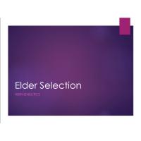 Class: Elder Selection